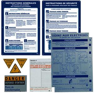 Etiquette PVC Autocollante de SignalisationHomme Foudroye 100 X 100 X 100 Mm